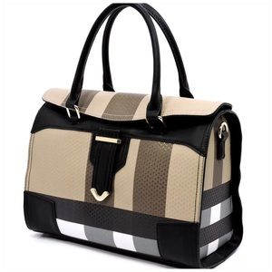 Handbags - Plaid Checkered Satchel